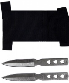 2pc hearts throwing knives a1020e
