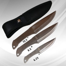 3pc throwing knife set silver z1013sl