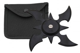 4 blade weighted throwing star black fb0013bk