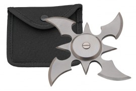 4 blade weighted throwing star silver fb0013sl