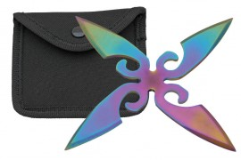 4 blade whirlwind throwing star rainbow fb0022rb