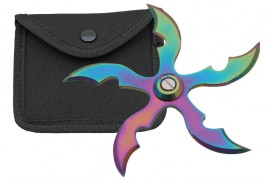 5 blade weighted throwing star rainbow fb0010rb