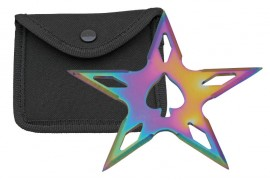 5 point ace throwing star rainbow fb0021rb