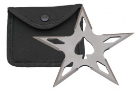 5 point ace throwing star silver fb0021sl