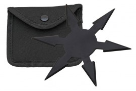 6 blade throwing star black fb0020bk