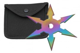 6 blade throwing star rainbow fb0019rb
