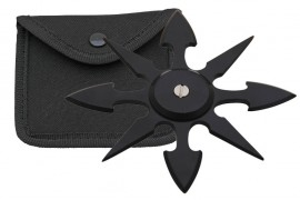 8 blade weighted throwing star black fb0015bk