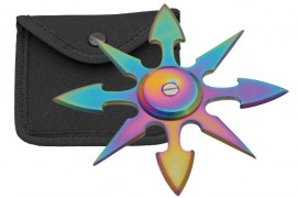 8 blade weighted throwing star rainbow fb0015rb