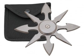 8 blade weighted throwing star silver fb0015sl