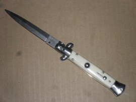 AB 9 Inch Armando Beltrame Coltellerie Stiletto Automatic Knife Ivory Dagger