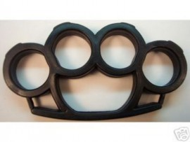 Black Plastic Belt Buckle Knuckles kn02bk