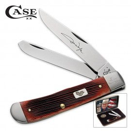 Case John Wayne Barnboard Bone Trapper Folding Knife Gift Set