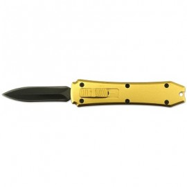 Gold OTF Out The Front Mini D/A Automatic Knife