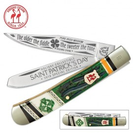 Kissing Crane 2018 Limited Edition St. Patrick's Day Trapper Folding Knife
