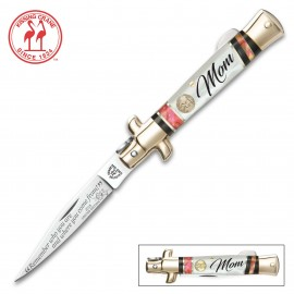 Kissing Crane 2018 Mothers Day Stiletto Knife Abalone Pearl