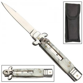 Leverlock Stiletto Marble Maze Automatic Knife