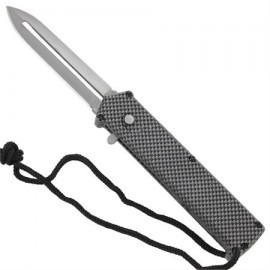 OTF Checker Single Action Angel Blade Automatic Knife