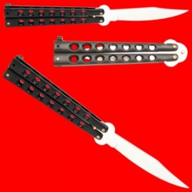 black best value lightweight butterfly knife 225bk