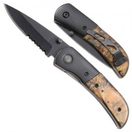 brown marble dual action knife sp504b5