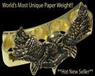 gold winged phantom paperweight 12gd