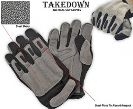 large grey suede leather tactical sap gloves sgn203aml