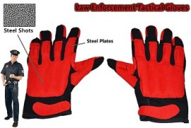 large red tactical steel shot sap gloves sng203aml