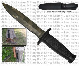 military boot knife camo hk43485ca