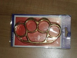 shiny gold plastic knuckles kn02gd