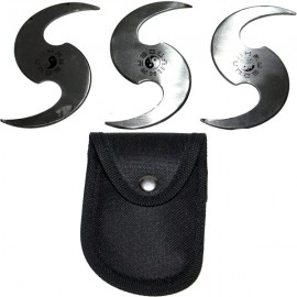 yin yang boomerang throwing stars set tk7
