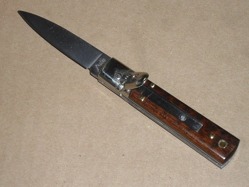 Akc 6 Quot Lever Lock Switchblade Automatic Knife Snake Wood